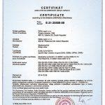 Сертификат кранов типового ряда GJMJ, GDMJ, GPMJ, GKMJ