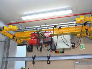 Подвесной мостовой кран GPMJ 2x0,5/4,2 м.