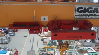 Модификация мостового крана GJMJ 16 т / 22,5 м - добавление подъемника GHM 2001